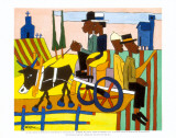 Going to Church Prints by William H. Johnson