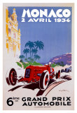 Monaco 1934 Affischer av Geo Ham