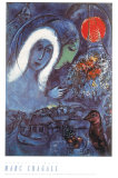 Champs de Mars Plakat af Marc Chagall