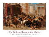 Toros y osos en el mercado Psters por William Holbrook Beard