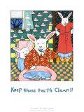 Immer schön die Zähne putzen Kunstdruck von Nancy Carlson