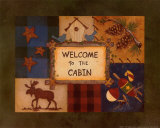 Welcome to the Cabin Láminas por Debbie Crabtree
