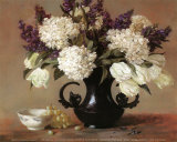 Hydrangeas and Stock Posters by Joe Anna Arnett