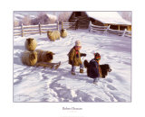 The Sledding Party Art by Robert Duncan