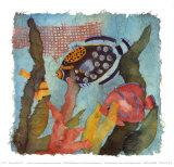 Tropische Fische IV Kunstdrucke von Linn Done