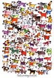 Cento cani e un gatto Stampe di Kevin Whitlark
