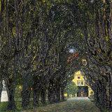 Allee Im Park Von Schloss Kammer Art by Gustav Klimt