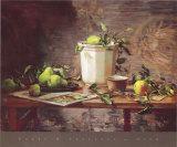 Birnen und Wandteppich Poster von Del Gish