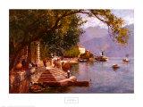 Villa Carlotta, Lake Como Art by John Woodward