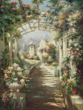 Romantic Pathway I Prints by Michel Brevard