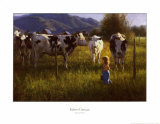 Anniken und die Kühe Kunst von Robert Duncan