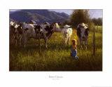 Anniken e le mucche Arte di Robert Duncan