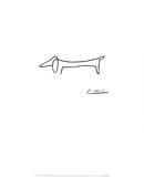 Hunden Plakater av Pablo Picasso