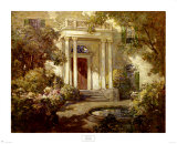Front Porch in Dappled Sunlight Print by Abbott Fuller Graves
