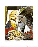 Cabeza de una mujer leyendo Láminas por Pablo Picasso