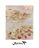 Red Water Lilies Posters by Claude Monet