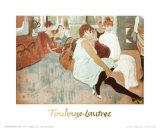 Salon in Rue des Moulins Láminas por Henri de Toulouse-Lautrec