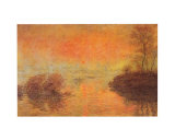 Tramonto Sulla Senna Posters by Claude Monet