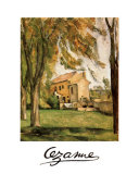 Chestnut Trees and Farm, Jas De Bouffan Poster by Paul Cézanne