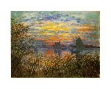 Tramonto a Lavacourt Posters by Claude Monet