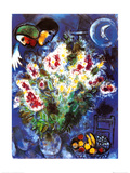 Still Life with Flowers Láminas por Marc Chagall