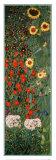 Garten mit Sonnenblumen Poster von Gustav Klimt