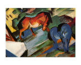 Red and Blue Horses Posters por Franz Marc
