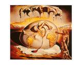Enfant géopolitique observant la naissance de l'homme nouveau Affiches par Salvador Dalí