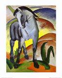 Blaues Pferd I Kunstdruck von Franz Marc
