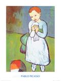Femme au Pigeon Affiches par Pablo Picasso