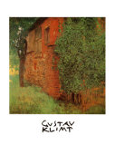 Farmhouse at Kammer Posters van Gustav Klimt