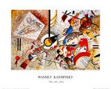 Bustling Aquarelle, vers 1923 Posters par Wassily Kandinsky