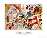 Bustling Aquarelle, 1923 circa Poster di Wassily Kandinsky