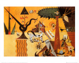 Terre Labouree, c.1923 Poster af Joan Miró