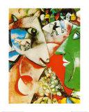 Le village et moi Affiches par Marc Chagall