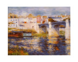 Bridge at Chatou Posters by Pierre-Auguste Renoir