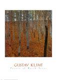 Forêt de hêtres Poster par Gustav Klimt