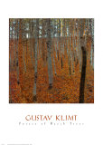 Birkenwald Kunstdruck von Gustav Klimt