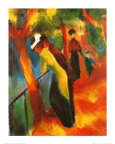 Sunny Road Prints by Auguste Macke