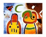 L'Oiseau au Plumage Deploye Poster di Joan Miró