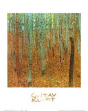 Forest of Beeches Art by Gustav Klimt