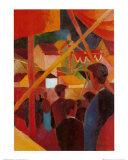 Tightrope Walker Poster von Auguste Macke