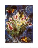 Nature morte aux fleurs Posters par Marc Chagall