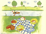 Lakeside Picnic Prints by Lorraine Cook