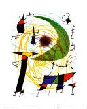 Grønn måne Plakater av Joan Miró