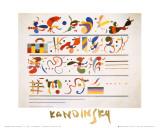 Succession, 1935 Affiches par Wassily Kandinsky
