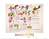 Succession, c.1935 Prints by Wassily Kandinsky