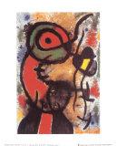 Personnage et Oiseau, c.1948 Print by Joan Miró