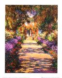 La alameda del jardín Láminas por Claude Monet