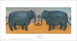 Verliebte Elefanten Kunst von Emma Stubbs Hunk